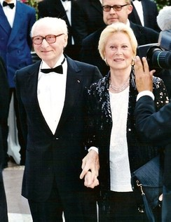 Gérard Oury with spouse Michèle Morgan at the Cannes Film Festival.