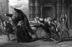 Gilbert's Shylock After the Trial, an illustration to The Merchant of Venice.
