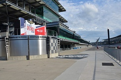 Victory Lane at the Indianapolis Motor Speedway.