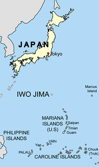 Iwo Jima location map
