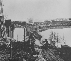 Railway in the 1890s in Helsinki, Finland