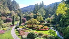 Located just north of the city limits is Butchart Gardens, a botanical garden and National Historic Site.