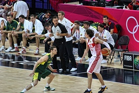 Quarterfinal match between Lithuania and Russia