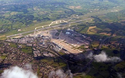 Manchester Airport aerial view