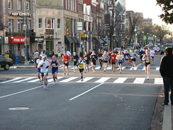 Runners in the popular National Marathon race in Washington, D.C.