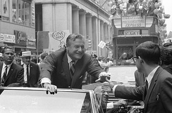 Rockefeller campaigning for the Republican presidential nomination in 1968