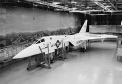 A mockup of the XF-108.