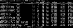 The NTP management protocol utility ntpq being used to query the state of a stratum 2 server.