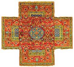 Ottoman Cairene cruciform table carpet, mid 16th century