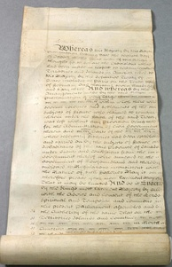 A copy of the Quebec Act passed in 1774 which addressed a number of grievances held by French Canadians and Indians, although it angered American colonists