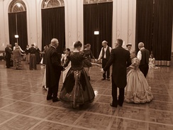 Historical Colonial Ball in the Albert Hall Canberra (circa 2016) (sepia)