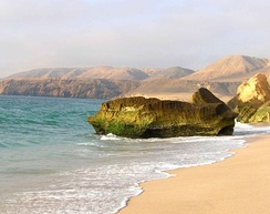Ras Aljinz, southeastern Arabia (Oman) also known as the 'Turtle Beach'.