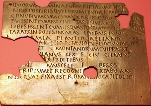 Fragmentary military diploma from Carnuntum; Latin was the language of the military throughout the Empire