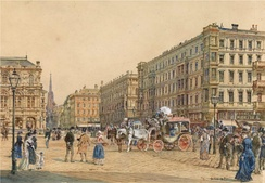 Vienna Ringstraße and State Opera around 1870