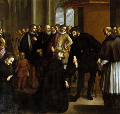 Francisco Xavier taking leave of John III of Portugal for an expedition