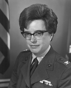 Colonel Jeanette Sustad as Director of Women Marines.