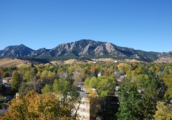 Autumn in Boulder brings many sunny days.