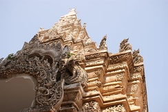 Detail of the entrance gate of Wat Phra That Lampang Luang