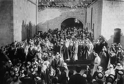 The first visit of the High Commissioner for Palestine to Al-Salt city in Transjordan, 20 August 1920.