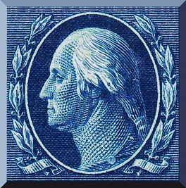 Washington  This engraving was modeled after a bust of Washington by renowned French sculptor Jean Antoine Houdon.
