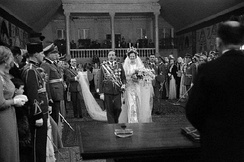 Wedding of Zog I with Geraldine of Albania in 1938