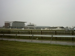 Wetherby Racecourse in 2008. This picture was taken during the Sunday Market held at the course.