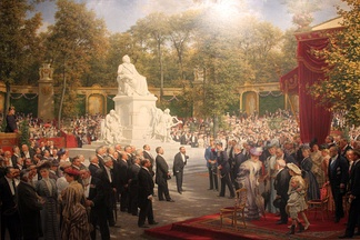 Unveiling of the Richard Wagner Monument in the Tiergarten, Berlin (1908); painting by Anton von Werner