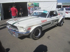 Ian Geoghegan won the championship driving this Ford Mustang. The car is pictured in 2013 in different specification.