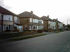 Typical 20th-century, three-bedroom semi-detached houses in England