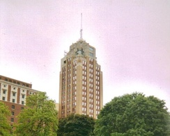 Boji Tower, Lansing's tallest building, located downtown
