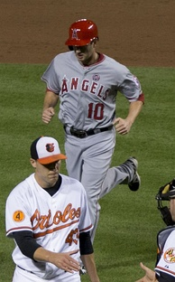 Hawpe with the Los Angeles Angels of Anaheim
