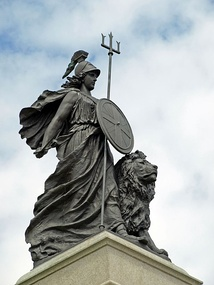 The Statue of Britannia in Plymouth. Britannia is a national personification of the UK.