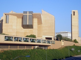The Cathedral of Our Lady of the Angels is the head church of the Archdiocese of Los Angeles and the second largest Catholic church in the United States.[11]