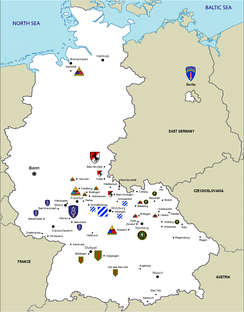US Army units in West Germany, 1987