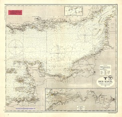 The Channel (Der Kanal), D.66 Kriegsmarine nautical chart, 1943
