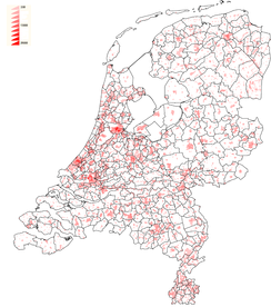 Density in the Netherlands
