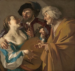The Procuress by Dirck van Baburen (1622)