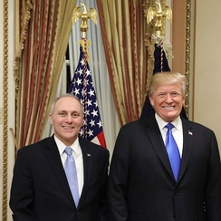 Scalise with President Donald Trump in 2018