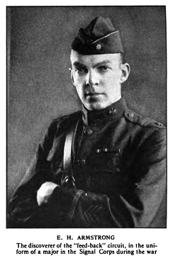 Armstrong in his Signal Corps uniform during World War I