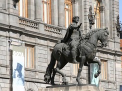 Equestrian statue of Charles IV, Mexico City, Manuel Tolsá. The Spanish Monarch was the maximum authority in New Spain and ruled via a viceroy.