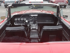 "Ford Thunderbird steering column ""swung"" to right"