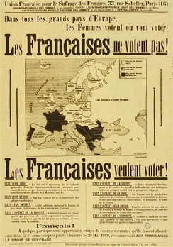 French pro-suffrage poster, 1934