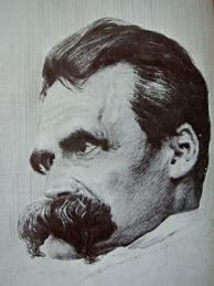Drawing by Hans Olde from the photographic series, The Ill Nietzsche, late 1899
