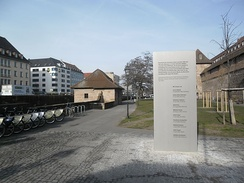 "A memorial plaque, in Nuremberg, in remembrance of the victims of the  ""Bosphorus serial murders""."