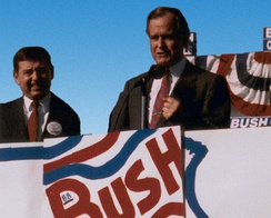 John Ashcroft and Vice President Bush campaign in St. Louis, Missouri, 1988