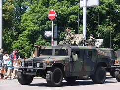 Luxembourg HMMWV on national day