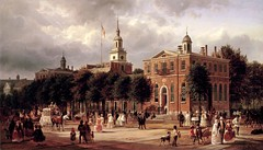 Independence Hall, south wing. Philadelphia