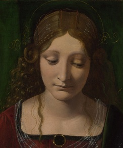 Purported painting of Isabella as the Virgin by Giovanni Antonio Boltraffio