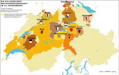 "The ""Thirteen-Canton Confederation"" of the Old Swiss Confederacy (1513–1798)"