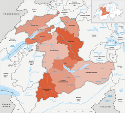Districts of the canton of Bern